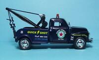 1953 Chevy 3100 Wrecker-5 Die Cast Metal W/pull Back Power & Opening Drs-blue-2
