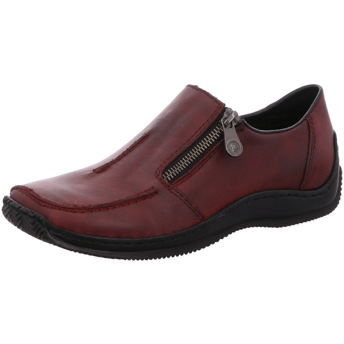 Rieker Damen Slipper Slipper in Bordo L1780-35 rot 574632