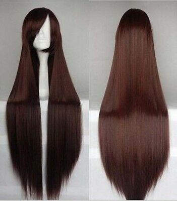 "80cm/32"" Long straight Cosplay Fashion Wig heat resistant 16 color Free shipping"