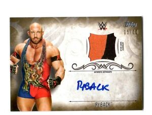 WWE-Ryback-2016-Topps-Undisputed-GOLD-Authentic-Autograph-Relic-Card-SN-5-of-10
