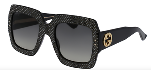 487a97d242069 Image is loading NEW-Gucci-Oversize-square-frame-rhinestone-GG0048-S-