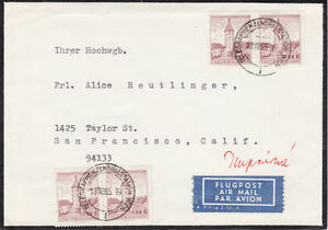 Austria Sc 690 on 1965 Mourning Cover to San Francisco