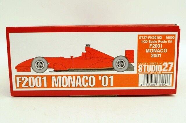 FK20102 Studio27 1 20 Ferrari F2001 Monaco GP 2001 modelll car Kits