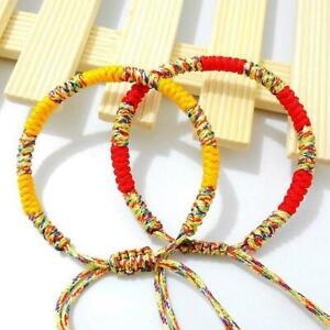 Lucky-Weaved-Bracelet-Buddhist-Knots-Rope-Tibetan-Charm-Jewelry-Men-Unisex-K5C3