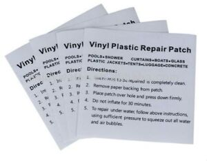 Heavy Duty Vinyl Plastic Puncture Repair Kit Patches For
