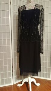 Jade-by-Jasmine-Mother-of-the-Bride-Groom-Black-elegant-evening-Dress-sz-14