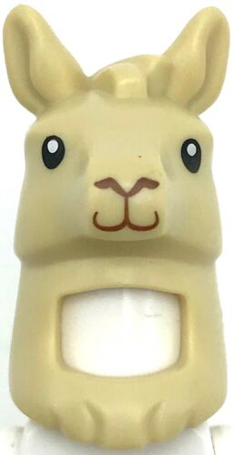 Lego New Tan Minifigure Headgear Head Cover Costume Llama Head and Neck