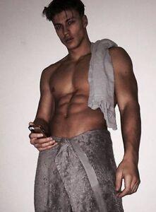 Shirtless Male Muscular Beefcake Hot Guy Tall Jock Shower Hunk Photo 4x6 F1269 Ebay