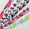 5Y Mix Color Grosgrain Ribbon Snail/Skull/Owl DIY Craft Sewing Width 22mm