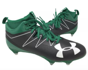 e1f5bddd8a5 Under Armour UA Nitro MID D Football Cleats Size 13 Black Green ...