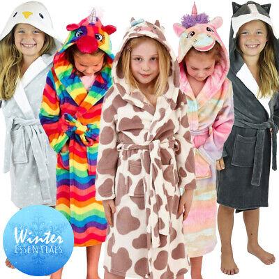 Nifty Bambini Unicorno in Pile All in One Tuta o pigiama vestaglia Lounge Wear