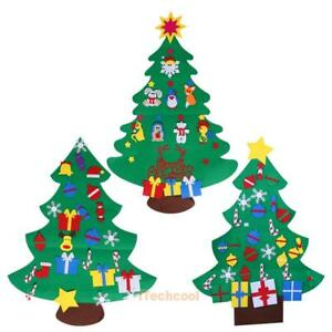 quality design d4764 72872 DIY Felt Christmas Tree Set with Ornaments Xmas Gift Door ...