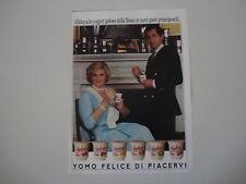 advertising Pubblicità 1986 YOGURT YOMO