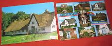 2 Postkarten color Sylt Keitum Friesenhaus 1975/87 color (978)