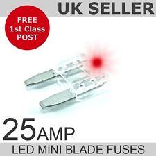 LED 25A Amp Mini Blade Fuses *Quantity 10*