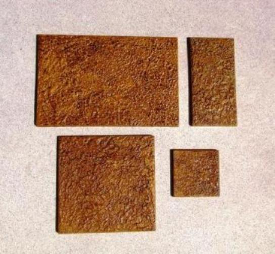 4 Size Opus Romano Pattern Tile Molds Make 100s of Slip Resistant Tiles $0.28 SF