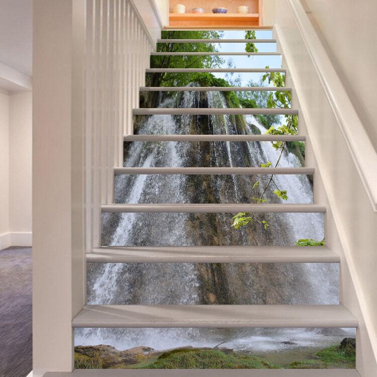 3D Gieen Wasser 53 Stair Risers Dekoration Fototapete Vinyl Aufkleber Tapete DE
