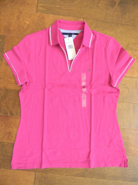 New NWT TOMMY HILFIGER Womens SS Shirt Top Polo cotton