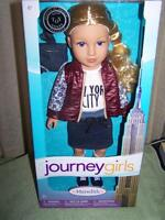 Journey Girls Meredith 18 Doll In York City Shirt & Skirt Outfit