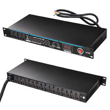 Yescom 10 Outlets G-type Rack Mountable 30 Amp Power Conditioner With LED Di ...