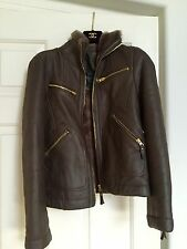 $2,400 Marc By Marc Jacobs Leather With Fur Jacket Brown