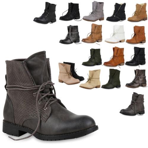 892816 Schnürer Damen Stiefelette Top Schuhe Gr 36-41 Trendy