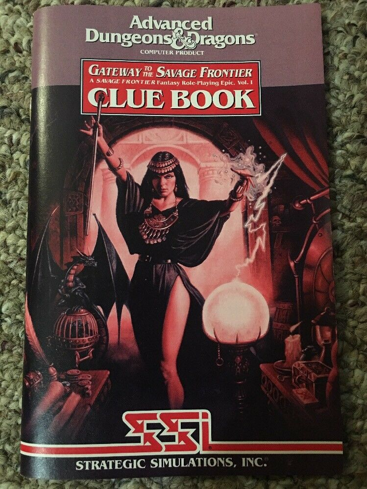 AD&D PC Clue Book Mint Gateway To The Savage Frontier SSI