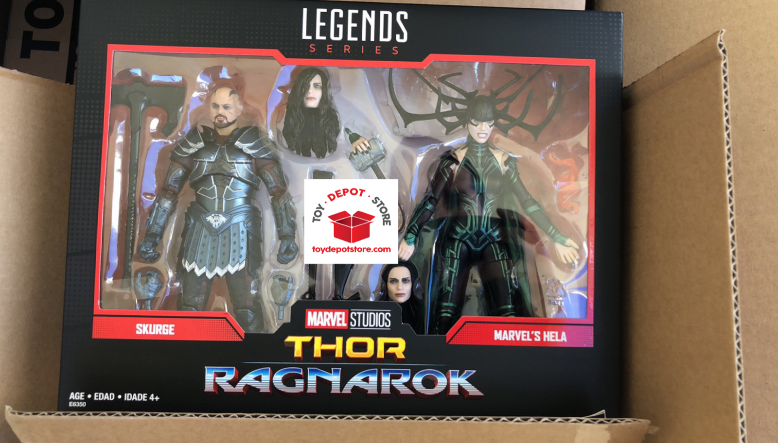 Marvel Legends 80th ANNIVERSARIO SKURGE & Hela 2 PACK azione cifra in magazzino USA