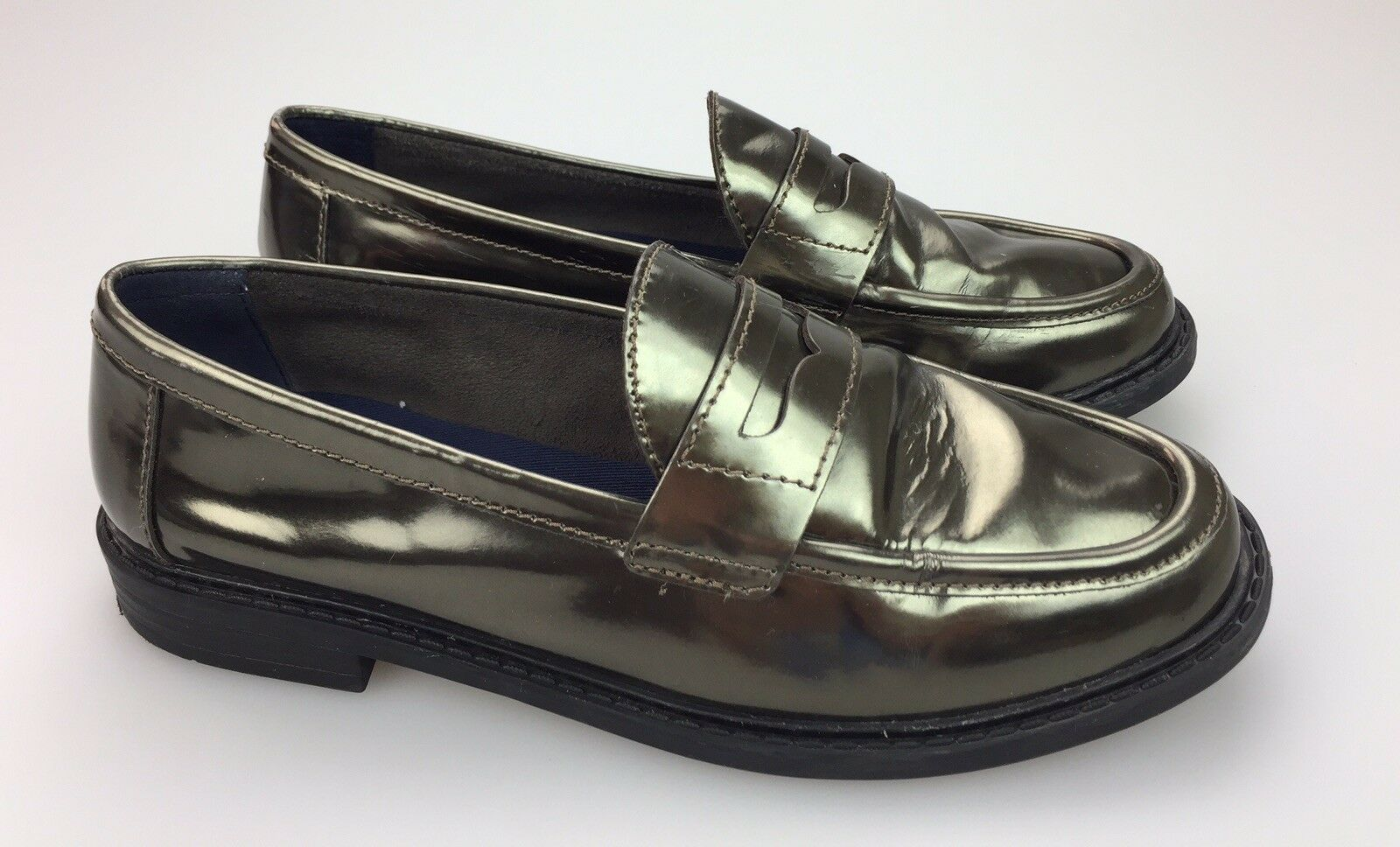 Cole Haan Womens Pinch Maine Classic Penny Loafers Metallic gold Size 6.5 B
