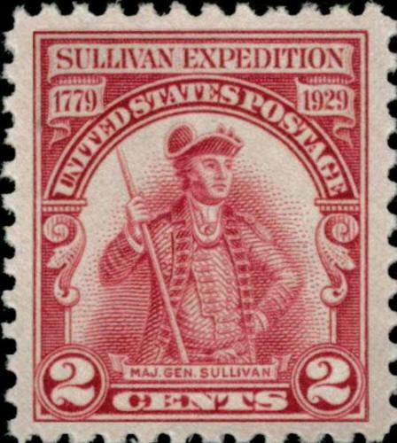 1929 2c Major General Sullivan Expedition Scott 657 Min