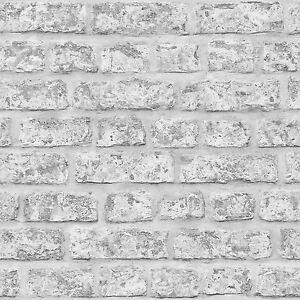 Ladrillo-Rustico-Papel-Pintado-Gris-Arthouse-889606-pared-NUEVO