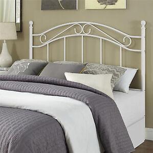Full queen size metal headboard bedroom furniture frame - Black or white bedroom furniture ...