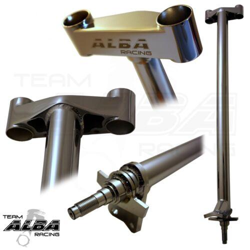 """Honda TRX 400EX 400X  Steering Stem 1/""""  Chromoly Chromed   Alba Racing   740"""