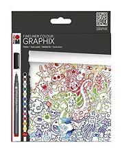 Marabu Color Doodle Supremo Fineliner Dibujo Colorante Set - 12 Colores