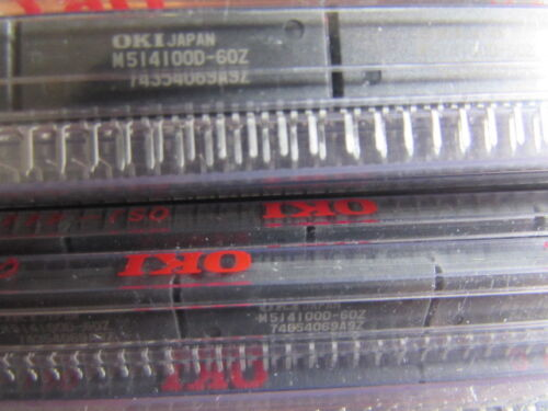 2 pieces M514100D-60Z OKI Dynamic RAM 20pin ZIP-Pkg NOS 4M x 1 Fast Page