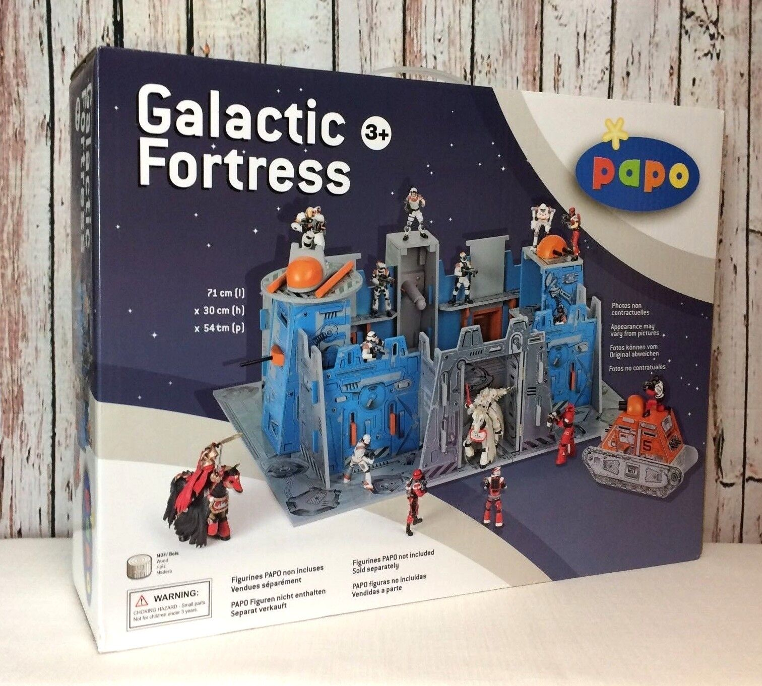 New Sealed  229 Papo Galactic Fortress MDF Wooden Space Toy 60400 Easy Assembly