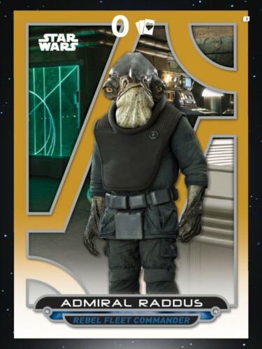 Topps Star Wars Card Trader Galactic Files 2018 Wave 2 Gold Admiral Raddus
