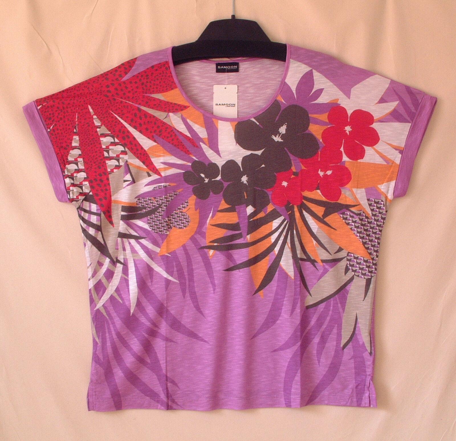 Samoon Shirt Gerry Weber Rundhals superleichte Viskose Qualität Neu Damen Gr.46