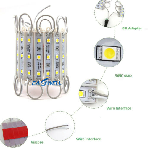 10ft ~ 500ft 5050 SMD 3 LED Module STORE WINDOW Light Kitchen Under Cabinet Lamp