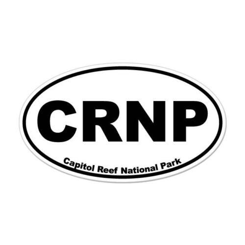 "Capitol Reef National Park oval car window bumper sticker decal 5/"" x 3/"""