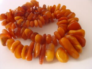 comment commander style de la mode de 2019 en stock Détails sur Superbe collier ancien en ambre véritable de la Baltique  necklace amber
