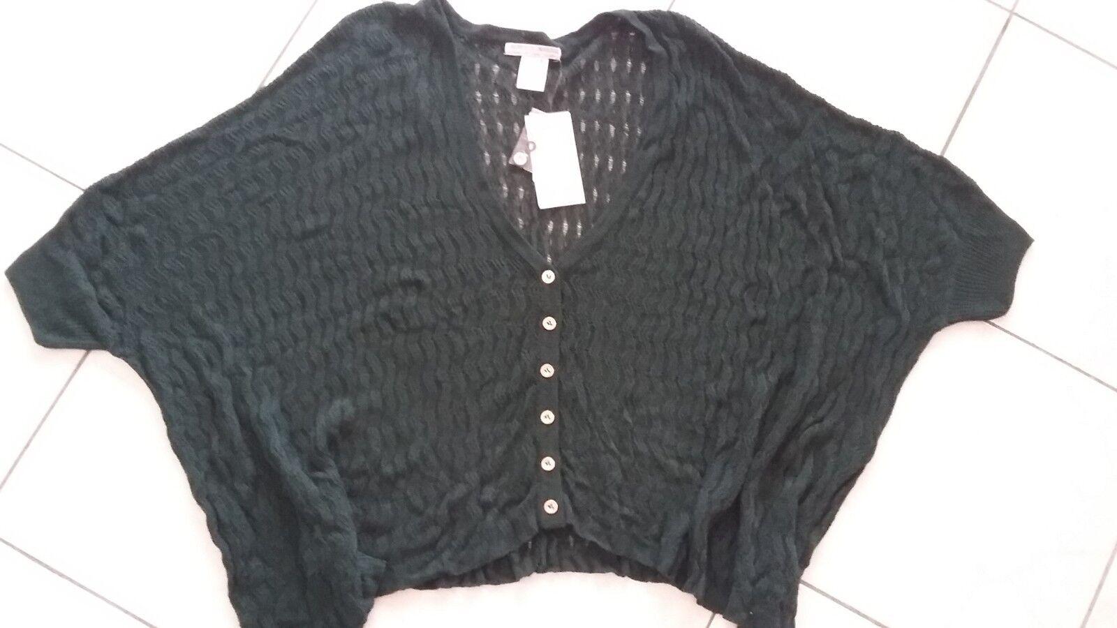 Ladies NWT Alberto Makali Sweater crochet knit swing top size Small green