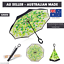 Upside-Down-Windproof-Inverted-Reverse-C-Handle-Folding-Umbrella-With-Carry-Bag thumbnail 1