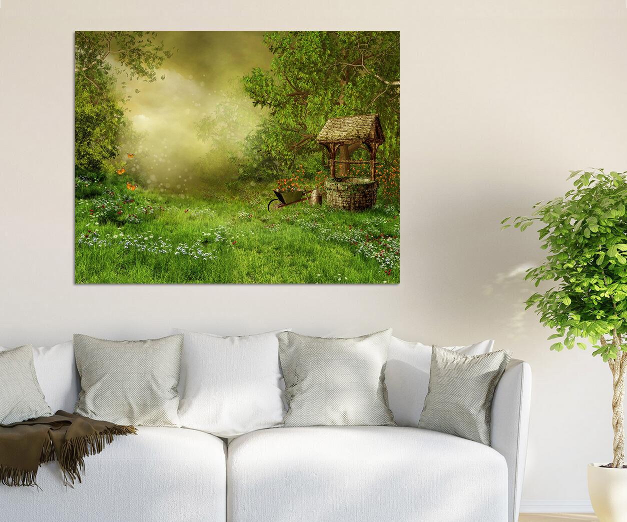 3D Schöne Gras, Blumen 23 Wandbild Fototapete BildTapete Familie AJSTORE DE