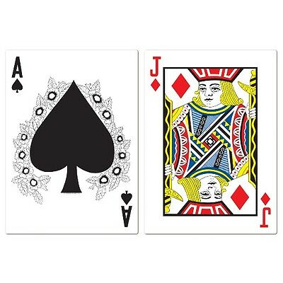 Pack of 2 Jumbo Blackjack Cutouts - Casino Party / Alice in Wonderland
