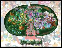 Disneyland Map Large Fridge Magnet 2. 4x5. California.....free Shipping