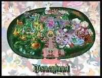 Disneyland Map Large Fridge Magnet 2. 4x5. California.....free Shipping