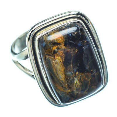 Gift Jewelry Black Labradorite Sterling Silver Overlay 9 Grams Ring Size 7.75 US Handmade Jewelry