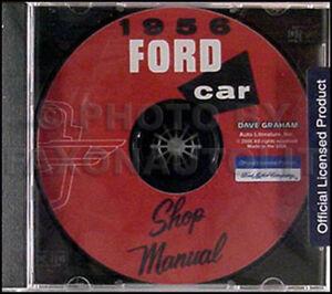 1956 ford shop manual cd car and thunderbird t bird mainline rh ebay ie 1956 ford fairlane shop manual 1956 ford car shop manual