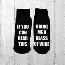 Se è possibile leggere questo/PORTAMI un bicchiere di vino-stampato sulla suola Taglia 6-12